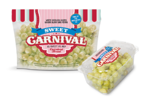 Sweet Carnival grapes packaging options