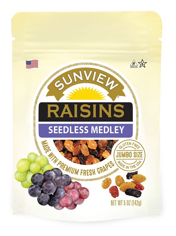 Raisins Seedless Medley-package